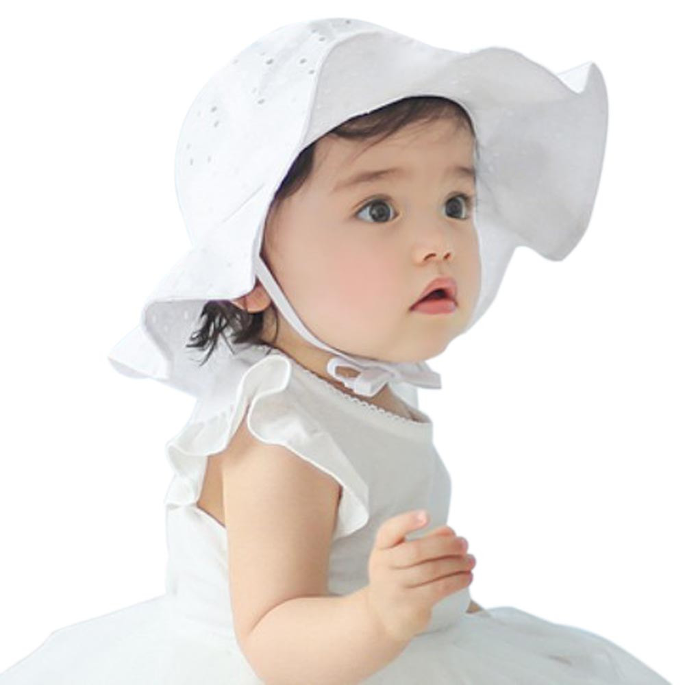 Toddler Infant Kids Soft Cotton Sun Cap Summer Outdoor Breathable Hats Baby Girls Boys Beach Sunhat Suit for 1-4 Years Old kids(China)