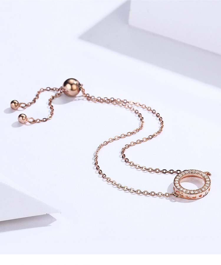 HTB1GrBFaQL0gK0jSZFAq6AA9pXaF BAMOER Trendy 925 Sterling Silver Glittering Round Circle Chain Link Strand Bracelets for Women Sterling Silver Jewelry SCB030