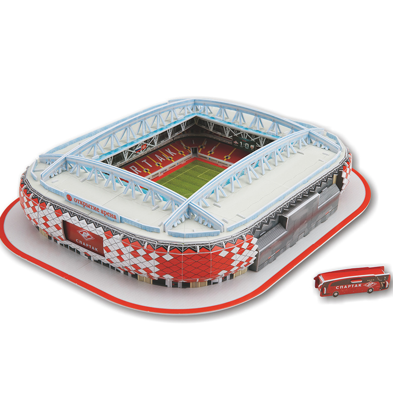 Classic Jigsaw Models 3D Russia Moscow AC Spartak Stadium RU Competition Football Game Stadiums DIY Brick Toys Scale Sets Paper