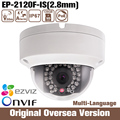 HIK Oem Ds-2cd2120f-is Ir Dome Ip Network Camera Poe Onvif alarm1080p original 1080 p Áudio Cmos Cctv Noite nova chegada