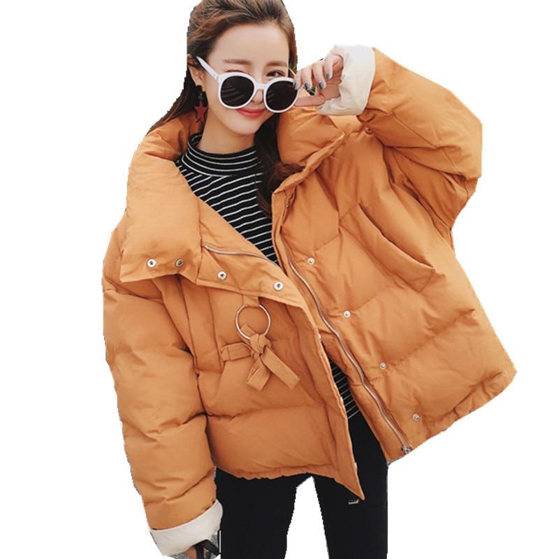 Korean BF Style Short Loose Thicken Fashion High Quality Winter Padded Outerwear Parkas Women Student's Jaquetas Feminino TT3034 tt tf ths 02b hybrid style black ver convoy asia exclusive