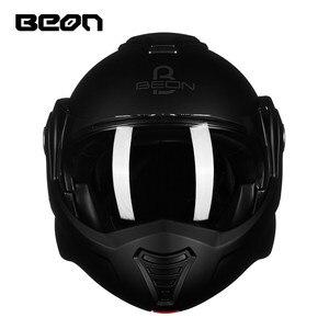 Image 4 - Beon B 702新フリップアップオートバイヘルメットモジュラーオープンフルフェイスヘルメットモトカスクcasco motocicleta capaceteヘルメットece