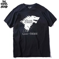 Top Quality Cotton Game Of Thrones Men T Shirt Short Sleeve Casual O Neck Men Tshirt