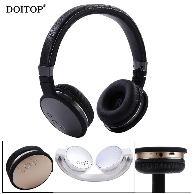 DOITOP Foldable Wireless Bluetooth Stereo HIFI Headphone Headset Music Earphone Headset For Smartphone Tablet PC MP3 O5 uf302 bluetooth telephone mtk6260 sync smartphone music address book