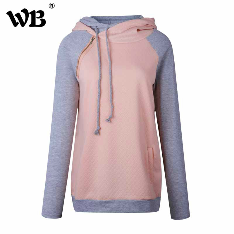 Multicolor S-XXXL Autumn Winter Women Hoodies Sweatshirts Zipper Casual Long Sleeve Patchwork Warm Female Hoodies Mujer