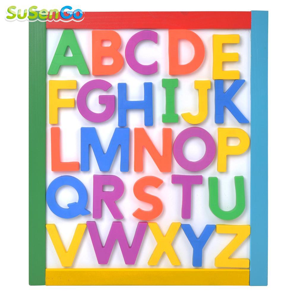 Susengo магнит письмо дети Игрушечные лошадки холодильник раннего обучения просвещения набор буквы алфавита холодильник игрушка-головоломка ...