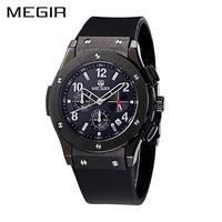 MEGIR Official Sport Watch Silicon Band Leisure Calendar Quartz Luminous Wristwatches Casual Creative Gift Watches Free