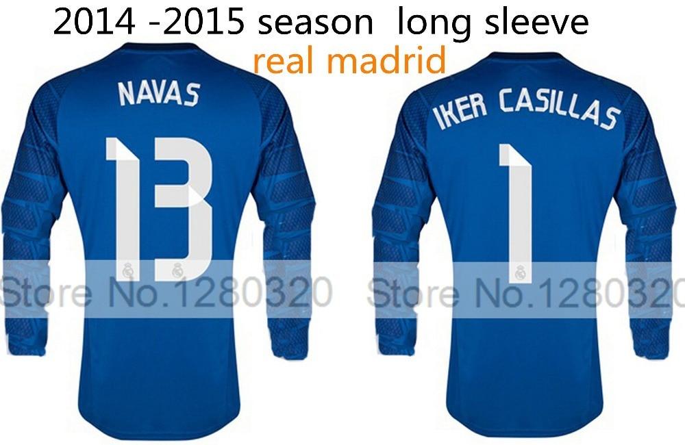 914900fbb ... reduced real madrid 2015 long sleeve goalkeeper jersey 1 iker casillas  13 navas ls cheap soccer