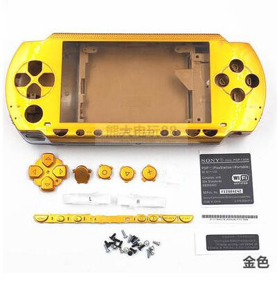 9 Colors Replacement Full Housing Case For PSP 1000 Complete Shell Button + Stickers + Screws