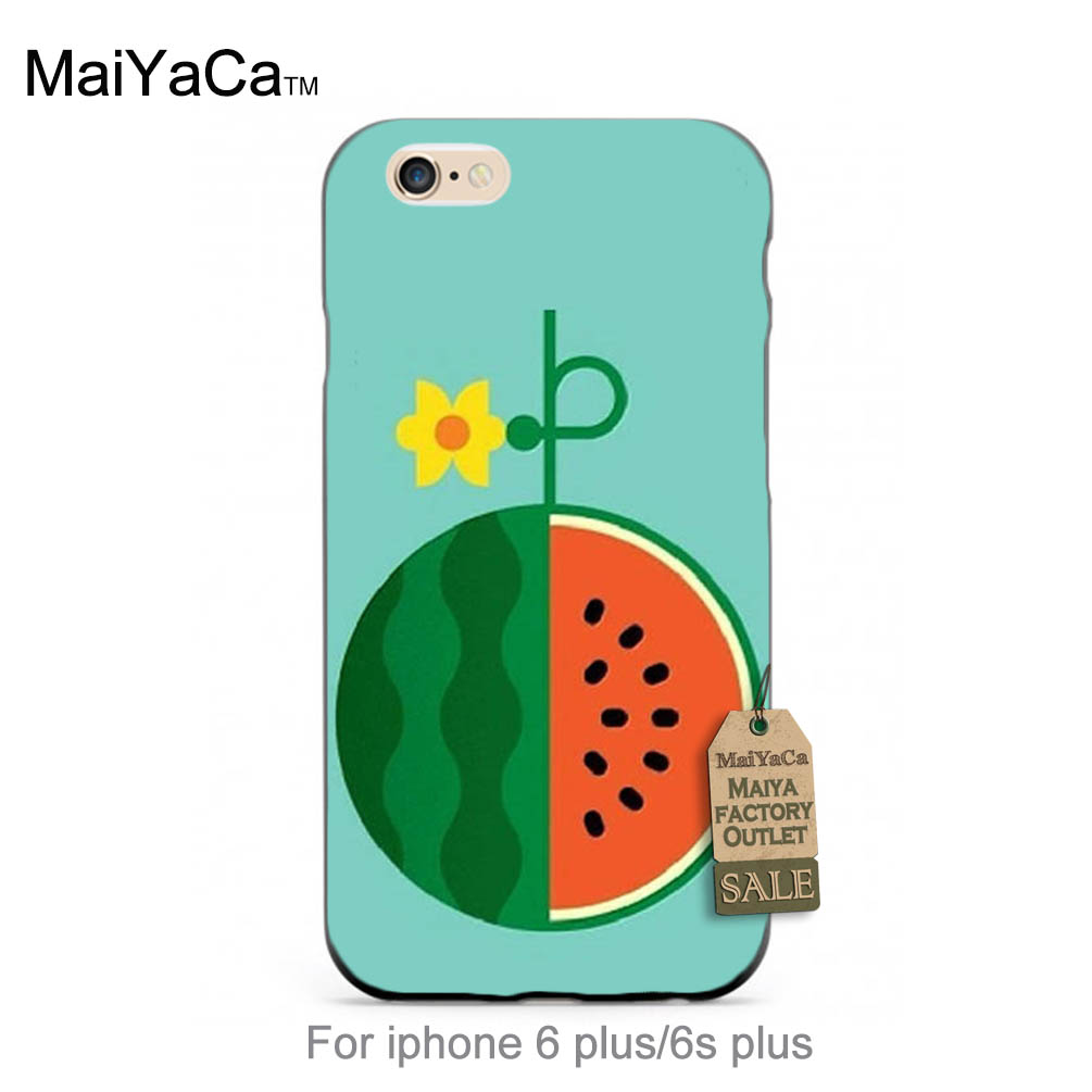 Online coloring mobile - Online Custom Watermelon Flower Diy Colorful Printing Drawing Plastic Phone Case For Case Iphone 6plus 6s