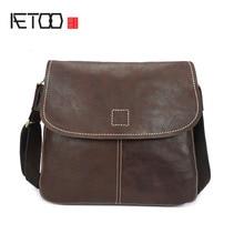 AETOO Handmade oil wax new single shoulder bag leisure Messenger bag leather retro bag
