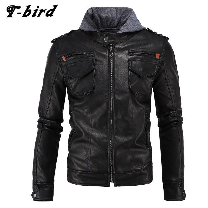 T-bird Jacket Men Winter 2017 Coat Male Bomber Hooded Jacket Men High-end Hooded Brand Outwear Mens Cotton Jackets Clothing ZKXS