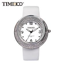 Fashion Women s Brand Watches White Leather Strap Diamond Quartz Watch Original Waterproof Ladies Wrist Watch