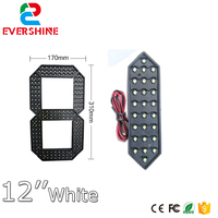 12 inch segment number gas station Outdoor Ultra Brightness white Large digital led module display