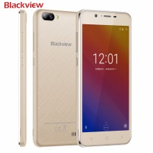"Blackview A7 mobile phone 3 Cameras MTK6580 Quad core CNC Metal Frame  5.0"" IPS HD smartphone Android 7.0 1GB+8GB 3G cell phone(China)"