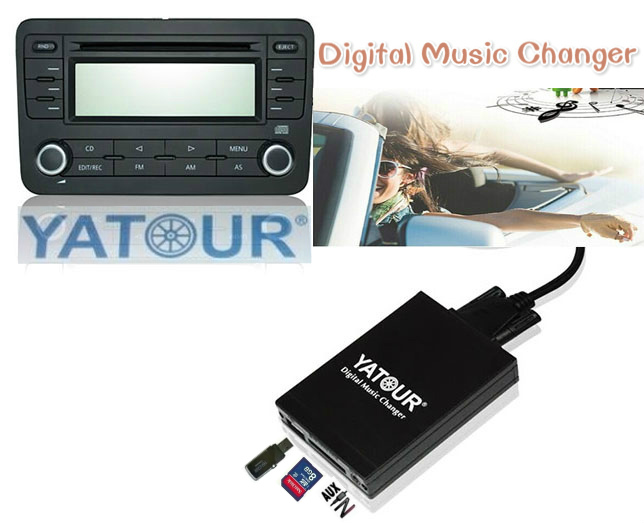 Yatour Car MP3 Player for VW Passat Audi A4/S4 Skoda Octavia Seat Ibiza USB SD AUX Digital Music Changer Bluetooth interface