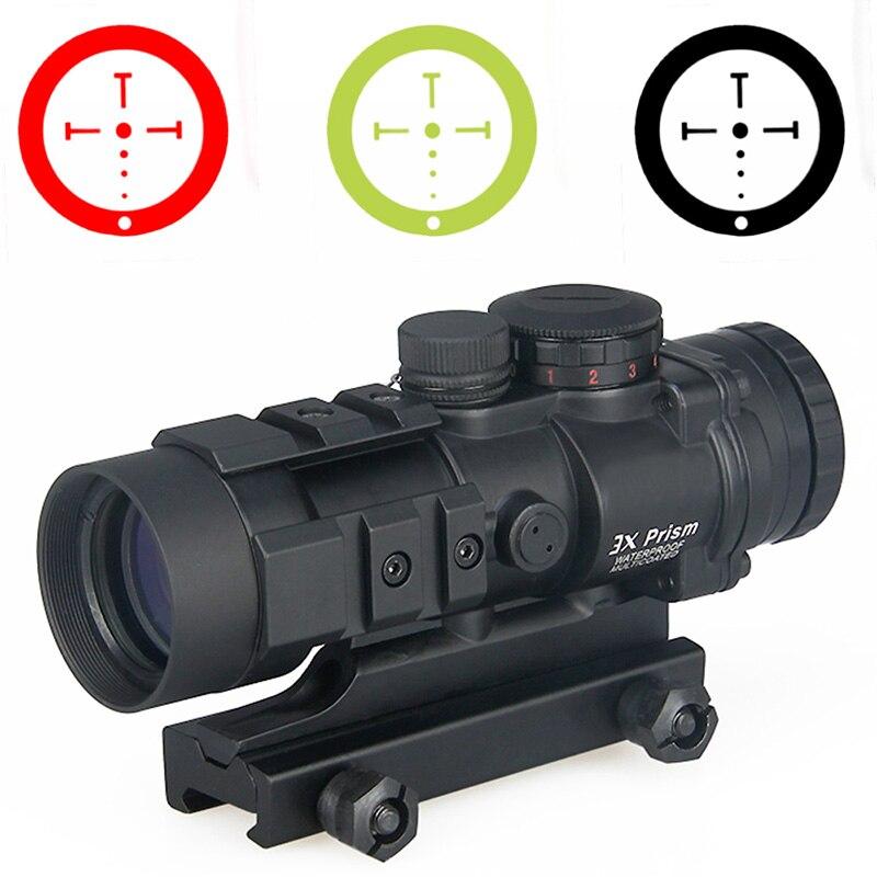Portée de chasse 3X PPT 3x prisme point rouge vue avec balistique CQ réticule HAMR 4x24 lunette de visée Sniper portée Airsoft Air Guns 1-0309