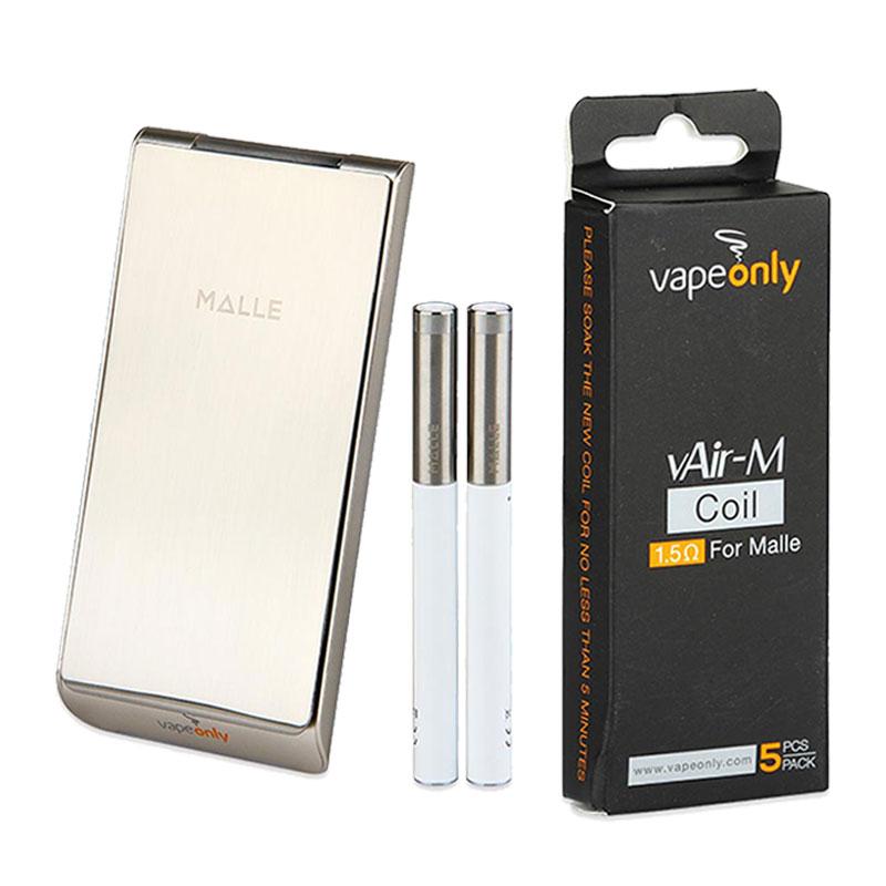 ФОТО VapeOnly Malle Portable Charging Case Kit w/ 2250mAh PCC & 2pcs 180mAh Battery Automatic Popping Out Design Full Kit & 5pcs Coil