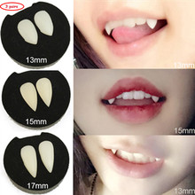 3/Pairs Vampire Teeth Fangs Dentures Props Halloween Costume Props Party Favors Devil Fangs Tooth With Dental Gum Cosplay Props
