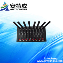 Factory supply bulk sending SMS 8 Ports wireless gsm gprs Modem Q2406B with mobile recharge