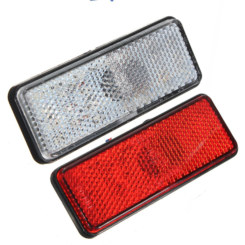 1 Pcs Universal LED Reflector White Red Rear Tail Brake Stop Marker Light For Car Truck Trailer RV Motorcycle With Reflector new universal motorcycle 12 led lamp stop break rear tail red car light lamp fenders