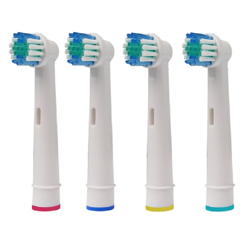 4PCS Replacement Brush Heads for Braun oral b Electric Toothbrush Cross Action Triumph Professional Care Vitality Pro Health image