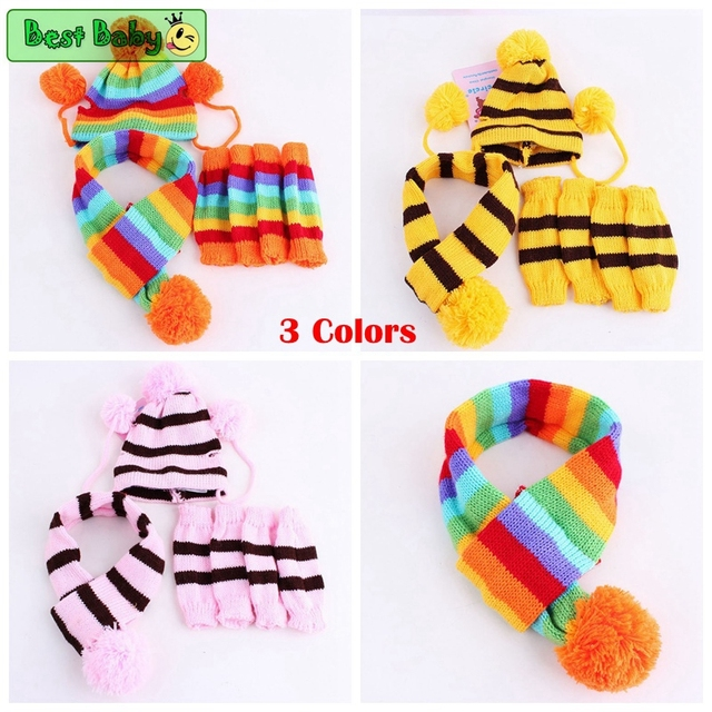 Knitted Hat Scarf Accessories 5