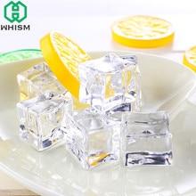 WHISM 5 шт. искусственный лед кубики многоразовые искусственные акриловые хрустальные кубики виски напитки дисплей фотографии реквизит Свадебная вечеринка Декор
