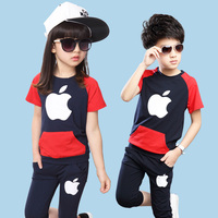 Fashion Kids Tracksuit Casual Vetement Enfant Garcon Handsome Boys Clothing Set Cool Ropa Mujer Summer Child