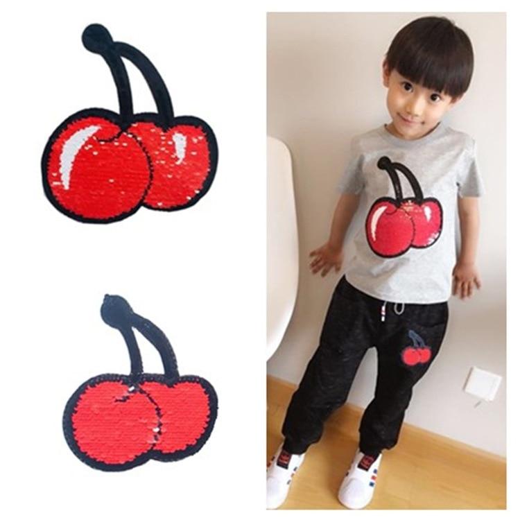 Large And Small Children's Parent-child AB Face Flip Double Color Can Flip Cherry Children's