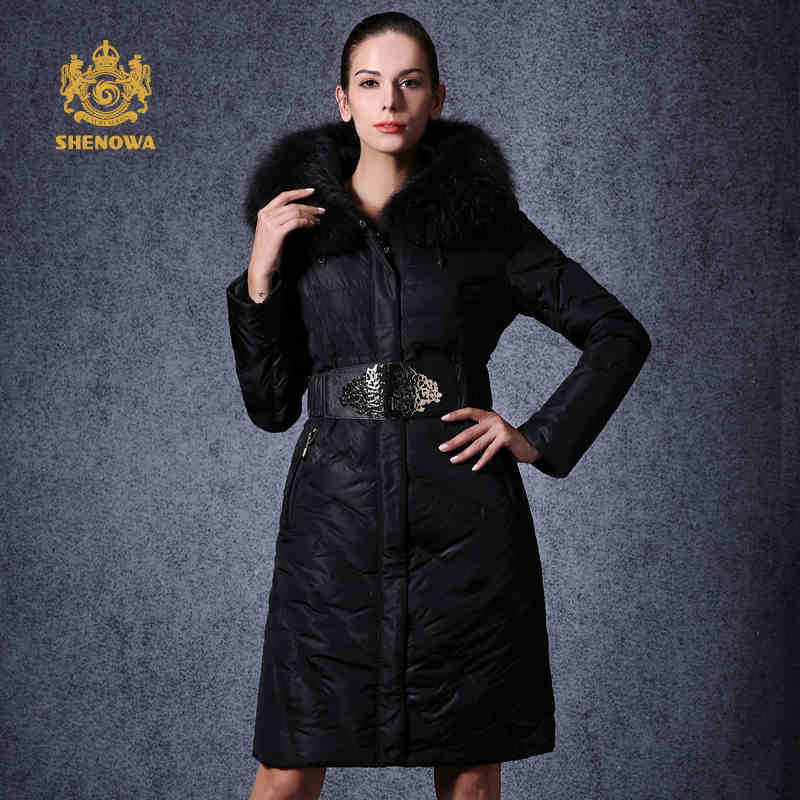 2015  Hot Thicken Warm Cold Woman Down jacket Coat Parkas Outerwear Hooded Raccoon Fur collar Long Plus Size 3XXXL Luxury Brand 2016 new hot winter thicken warm woman down jacket coat parkas outerwear hooded raccoon fur collar long plus size straight cold