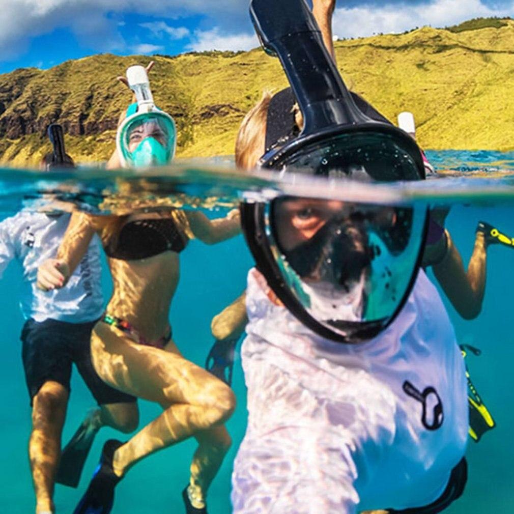 Masque de plongée sous-marine Anti-buée masque de plongée complet équipement de plongée en apnée imperméable à l'eau