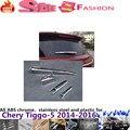 Para Chery Tiggo 5 2014 2015 2016 car styling cromo del ABS carrocería del coche de cristal trasero limpiaparabrisas boquilla recorte marco de cola ventana recorta 1 unids