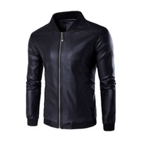 Msoup Dreamen's Pu Jackets Coats Motorcycle Leather Jackets Men Autumn Spring Leather Clothing Male Casual Coats Clothing M 4XL
