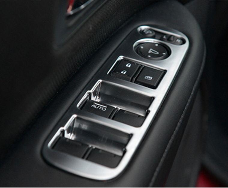 Accessory door handle holder window control switch ABS matte Chromium trim cover 4pcs For 2015 2016 2017 honda HRV HR-V Vezel