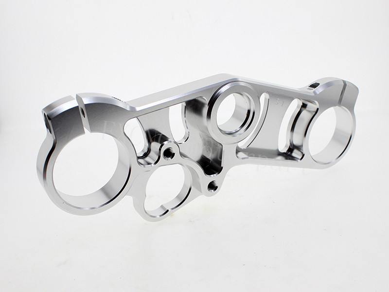 FXCNC Silver Color Motorcycle  Lowering Triple Tree Front End Upper Top Clamp  Fit For Suzuki GSXR 1000 2007 2008