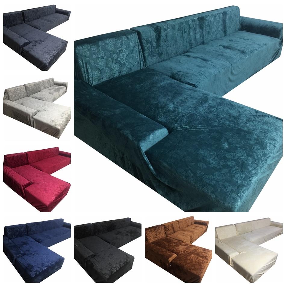 hussen fur sofa blau, blau präge couch sofa covers 100% polyester stretch möbel, Design ideen