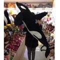 Fancytrader Gigante Simulação Animais Baleia Assassina Travesseiro Boneca de Brinquedo de Pelúcia Grande de Pelúcia Tubarão Preto Fotografia Adereços 130 cm