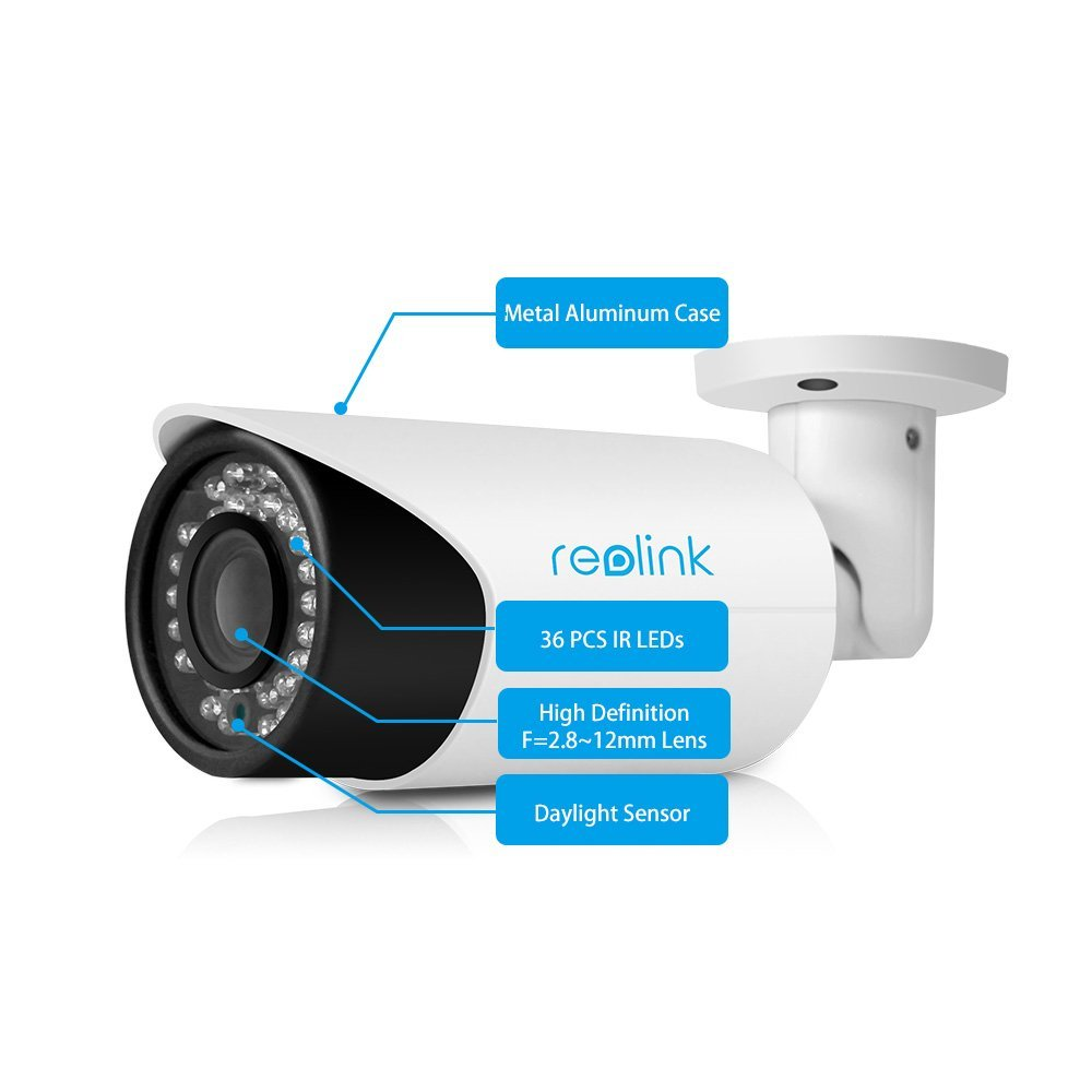 US $129 99 |Reolink RLC 411S 4MP 1440P Security IP Camera 4X Optical Zoom  Built in 16GB SD Card Outdoor Waterproof Bullet IP Camera-in Surveillance