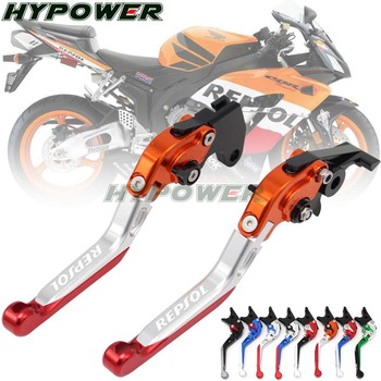 For HONDA CBR250R CBR300R CB300F CBR500R CB500F CB500X CB190R CB190X Motorcycle Folding Extendable Brake Clutch Lever REPSOL Honda CBR250R