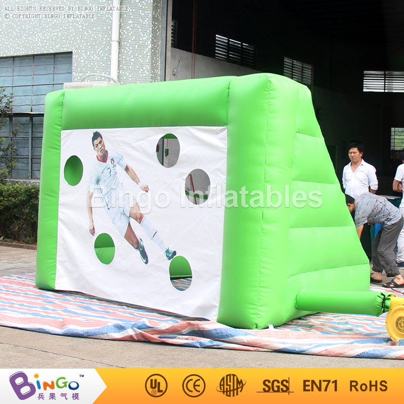 Bingo Inflatable Football field Gate Inflated Soccer Goal 3m long Kids Shooting Practise toy sports