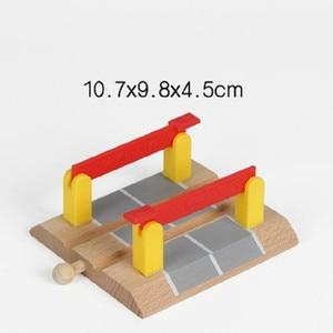 Image 5 - EDWONE  One Wood Railway Gas Station Clock Police Train Car Slot Railway Accessories Original Toy Kids Gifts Fit   BIRO