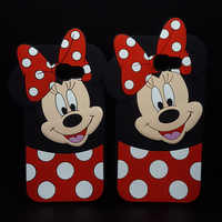 3D Cartoon Case for Samsung GALAXY J2core/A3 A5 A7 J3 J5 J7 2017 EU/A520/J330 Cute Cute Minnie Soft Silicone Phone Cases