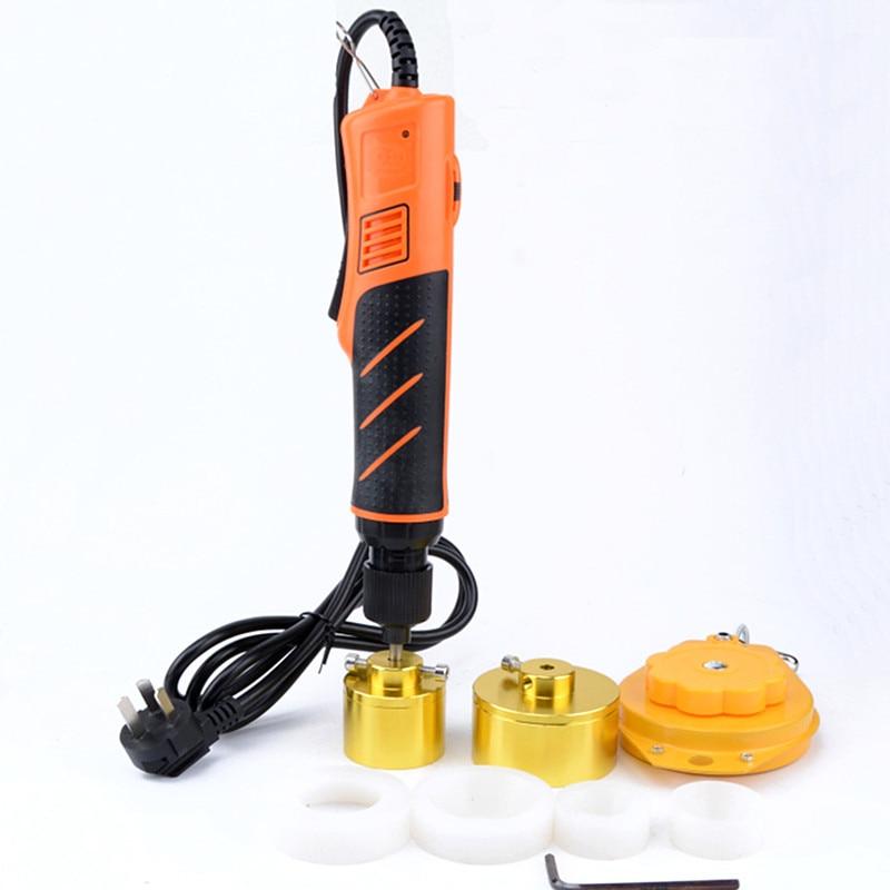Новый ручной небольшой Электрический укупорочный станок автоматический винт крышка инструмент замок для бутылочной крышки крышка установ...