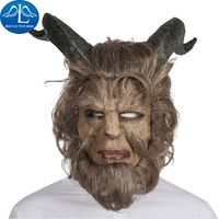 Hot Movie Beauty and the Beast Adam Prince Mask Cosplay Horror Beast Mask Latex Full Head Mask Halloween Party Mask For Men