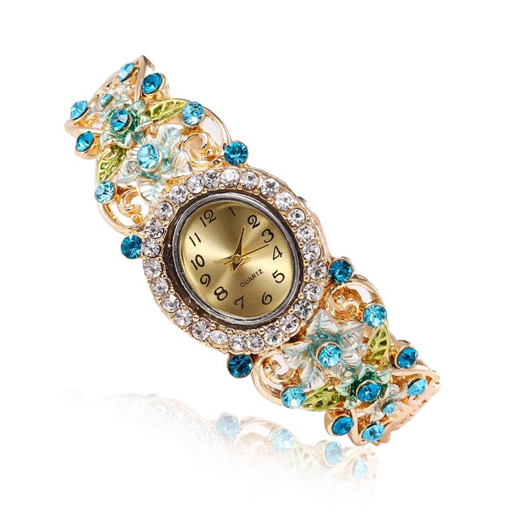 Hot Womens Vintage Fashion Dress Wristwatch Relogio Feminino Gift Watch Women Bracelet Ladies Watch With Rhinestones Clock  #A