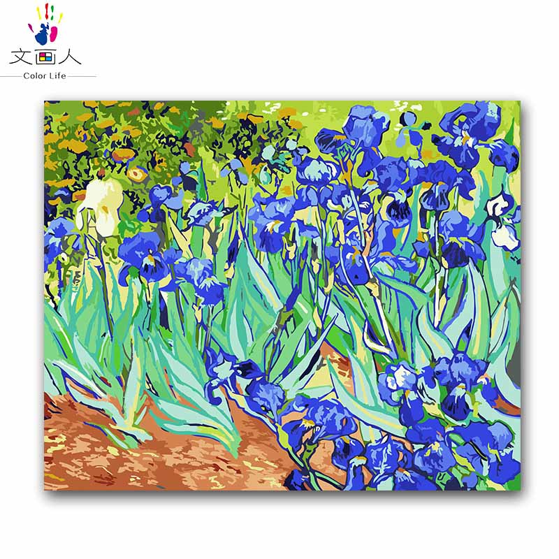 The orris vencent Van gogh oil paintings kits package diy painting coloring pictures by numbers for adult kids practise painting