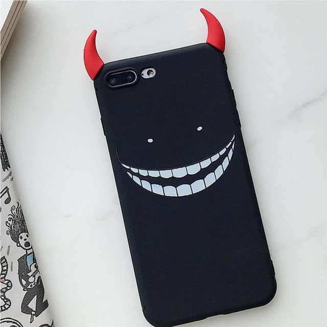 BOLAKER Küçük Şeytan Koruma Kılıfı Kabuk için Samsung Huawei iphone XS Max XS X 7 8 Note8 9 s9 s10 p30 p20 mate20 pro Hoparlör C