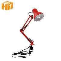 LED Desk Lamp Iron Foldable Long Arm Book Reading Lights E27 Clip Table Lamp For Bedroom