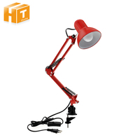 LED Desk Lamp Iron Foldable Long Arm Book Reading Lights E27 Clip Table Lamp For Bedroom